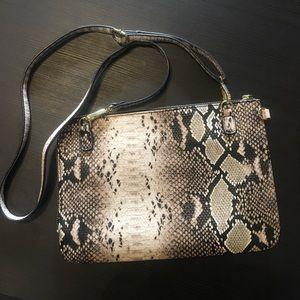 Faux snakeskin Topshop bag